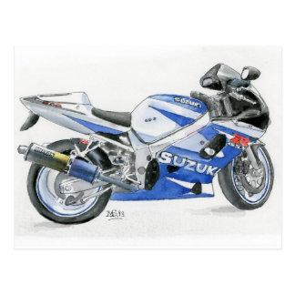 Motocyclette de Suzuki de carte postale de