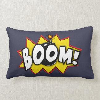 Mots comiques d'action de super héros de boom coussin