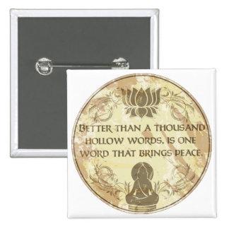 Mots creux de Bouddha Badge Carré 5 Cm