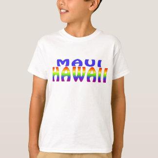Mots d'arc-en-ciel de Maui Hawaï T-shirt