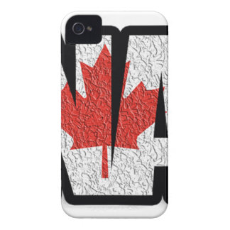 Mots de drapeau du Canada Coque Case-Mate iPhone 4