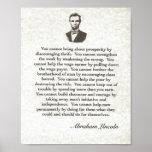 Mots de la sagesse sur Parchment= Abraham Lincoln Posters