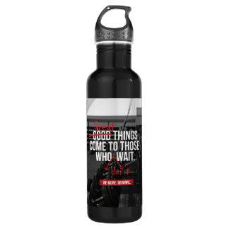 Mots de motivation de séance d'entraînement de bouteille d'eau en acier inoxydable