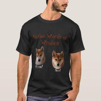 Mots de Shiba Inu de la sagesse T-shirt