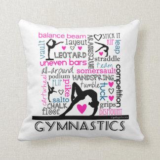 Mots de terminologie de gymnastique coussin décoratif