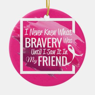 Mots d'encouragement pour un ami courageux avec le ornement rond en céramique