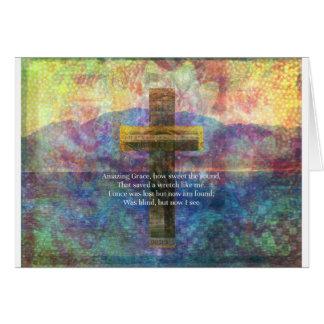 Mots extraordinaires de grâce avec la peinture carte de vœux