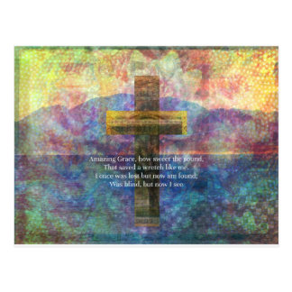Mots extraordinaires de grâce avec la peinture carte postale