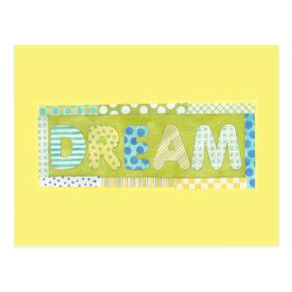 Mots inspirés par rêve de Megan Meagher | Carte Postale