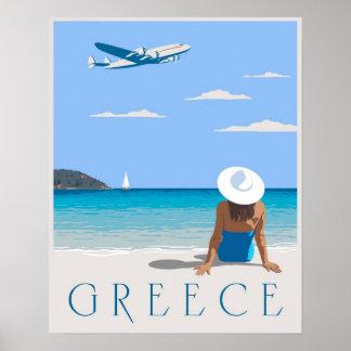 Mouche vers la Grèce Affiches