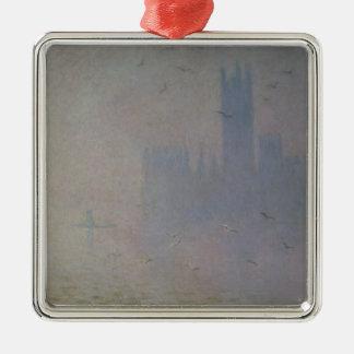 Mouettes de Claude Monet | au-dessus des Chambres Ornement Carré Argenté
