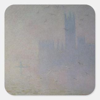 Mouettes de Claude Monet | au-dessus des Chambres Sticker Carré