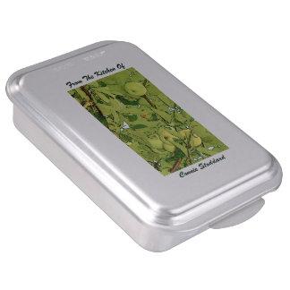 Moule à gâteaux avec le couvercle. Apple vert