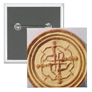 Moule dépeignant quatre guerriers badges