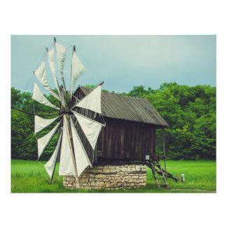 Moulin à vent musée Sibiu de village Prospectus En Couleur