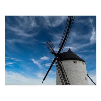 moulin à vent Noir-blanc Carte Postale