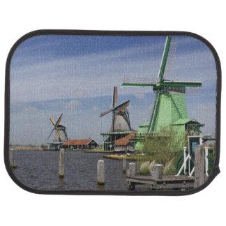 Moulin à vent, Zaanse Schans, Hollande, Pays-Bas 2 Tapis De Voiture