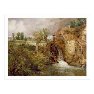 Moulin chez Gillingham, Dorset, 1825-26 (huile sur Carte Postale