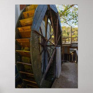 Moulin de Dawt de roue d'eau Posters