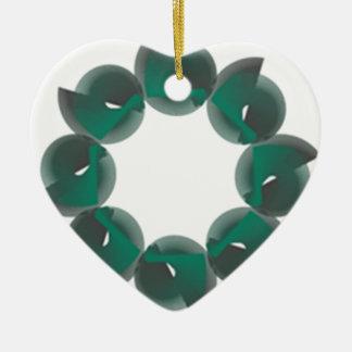 moulin de vent ornement cœur en céramique