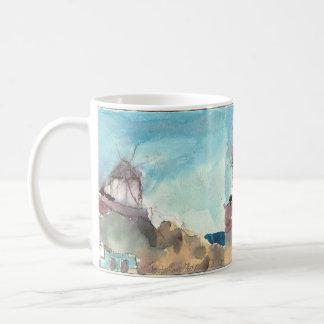 Moulins à vent célèbres de Mykonos sur une tasse
