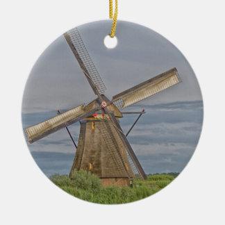moulins à vent de site de patrimoine mondial de ornement rond en céramique