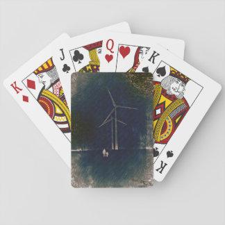 Moulins à vent des cartes d'art abstrait de cartes à jouer