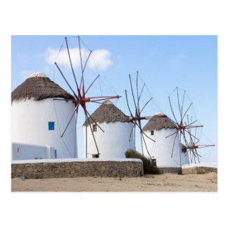 Moulins à vent Mykonos Carte Postale