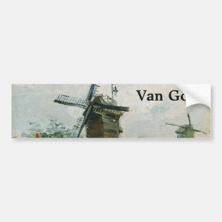 Moulins à vent sur Montmartre par Vincent van Gogh Adhésifs Pour Voiture