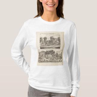 Moulins de bois de charpente et de blé à moudre à t-shirt