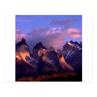 Mountain Cuernos Del Paine les Andes Chili Carte Postale