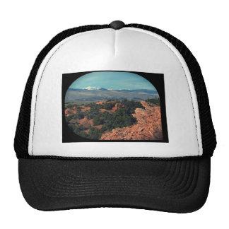 Mountain View rouge de désert Casquettes De Camionneur