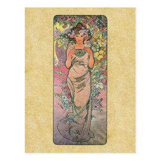 Mourez s'est levé par Alfons Mucha 1898 Carte Postale