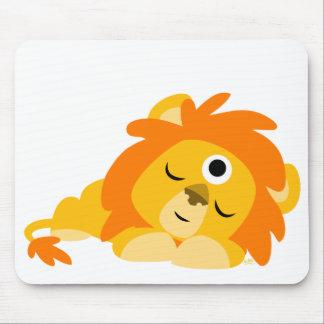 Mousepad attentif mignon de lion de bande dessinée tapis de souris