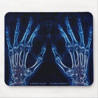 Mousepad bleu de rayon X de mains (version 2) Tapis De Souris