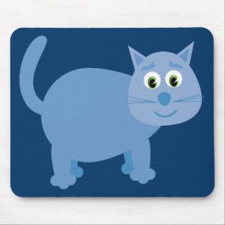Mousepad bleu mignon de chat de bande dessinée tapis de souris