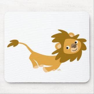 Mousepad courant de lion de bande dessinée tapis de souris