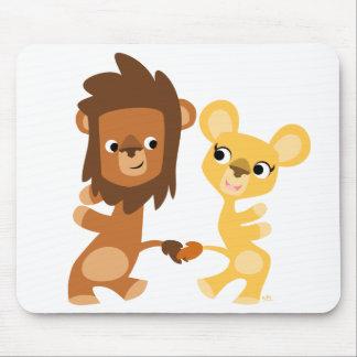Mousepad de danse de lion et de lionne de bande de tapis de souris