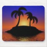 Mousepad de lever de soleil de palmier tapis de souris