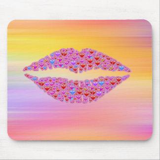 Mousepad de lèvres d'Emoji Tapis De Souris
