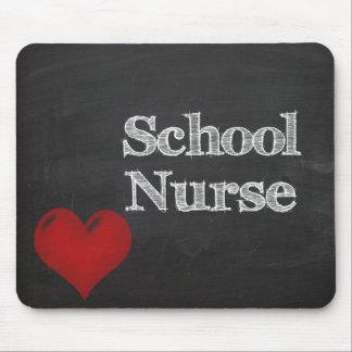 mousepad de tableau d'infirmière d'école tapis de souris