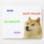 mousepad de tapis de souris de doge de shibe