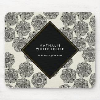 Mousepad floral personnalisé tapis de souris
