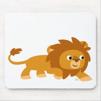 Mousepad futé de lion de bande dessinée tapis de souris