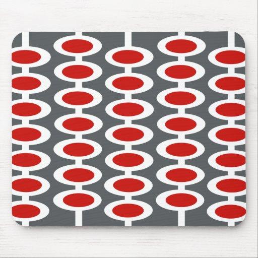 Mousepad gris blanc et rouge de r tro motif de gl tapis de souris - Tapis gris rouge blanc ...