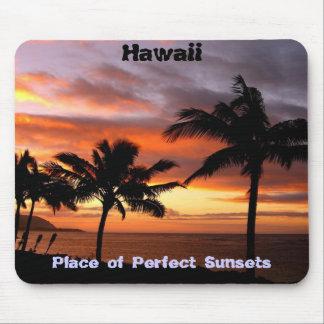 Mousepad hawaïen de coucher du soleil tapis de souris