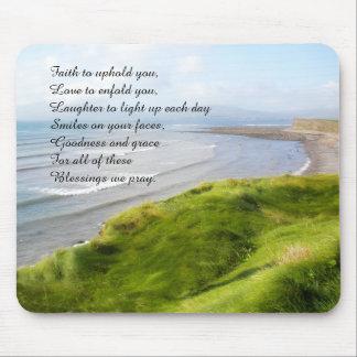Mousepad irlandais de littoral et de bénédiction tapis de souris