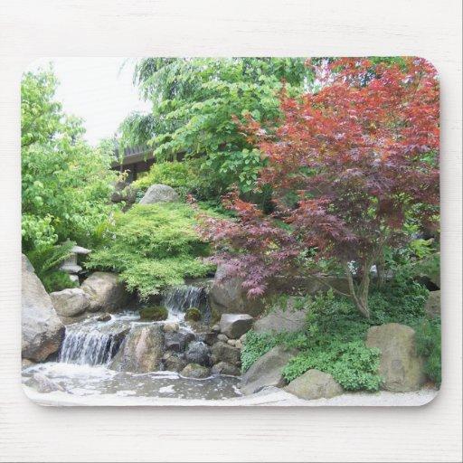 Mousepad Japonais De Cascade De Jardin Tapis De Souris Zazzle