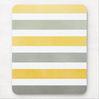 Mousepad jaune et gris rayé tapis de souris