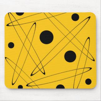"""Mousepad - modèle """"ellipses"""" - jaune et noir tapis de souris"""